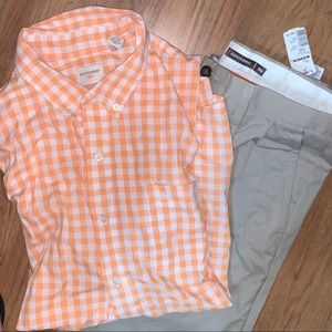 NWT Mens Dockers Pants 32 Shirt XL (can separate)